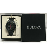 BULOVA Men's Marine Star 98B231 Black Quartz Chronograph Watch - $251.54