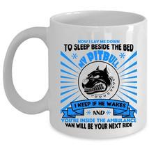 Now I Lay Me Down To Sleep Beside The Bed My Pitbull Cup, Dogs Mug (Coffee Mug - - $17.99