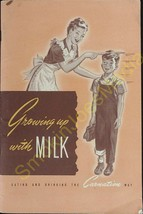 Vintage Growing up with Milk Eating and Drinking the Carnation Way Bookl... - $25.43