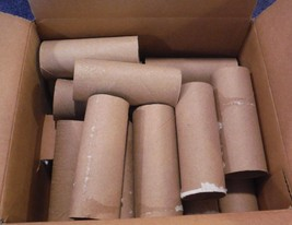 25 Empty Toilet Paper Rolls Tubes Craft School Project  - $4.49