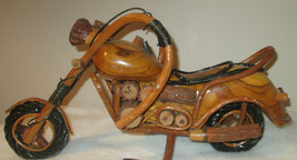 Wood Motorcycle Wood Art Bike Gifts HARLEY DAVIDSON Figurines Model Hand... - $77.00