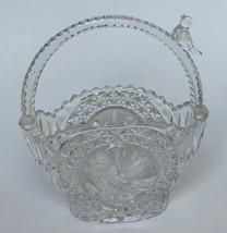 Hofbauer The Byrdes Collection Basket Etched Crystal Basket Germany Vint... - $14.84