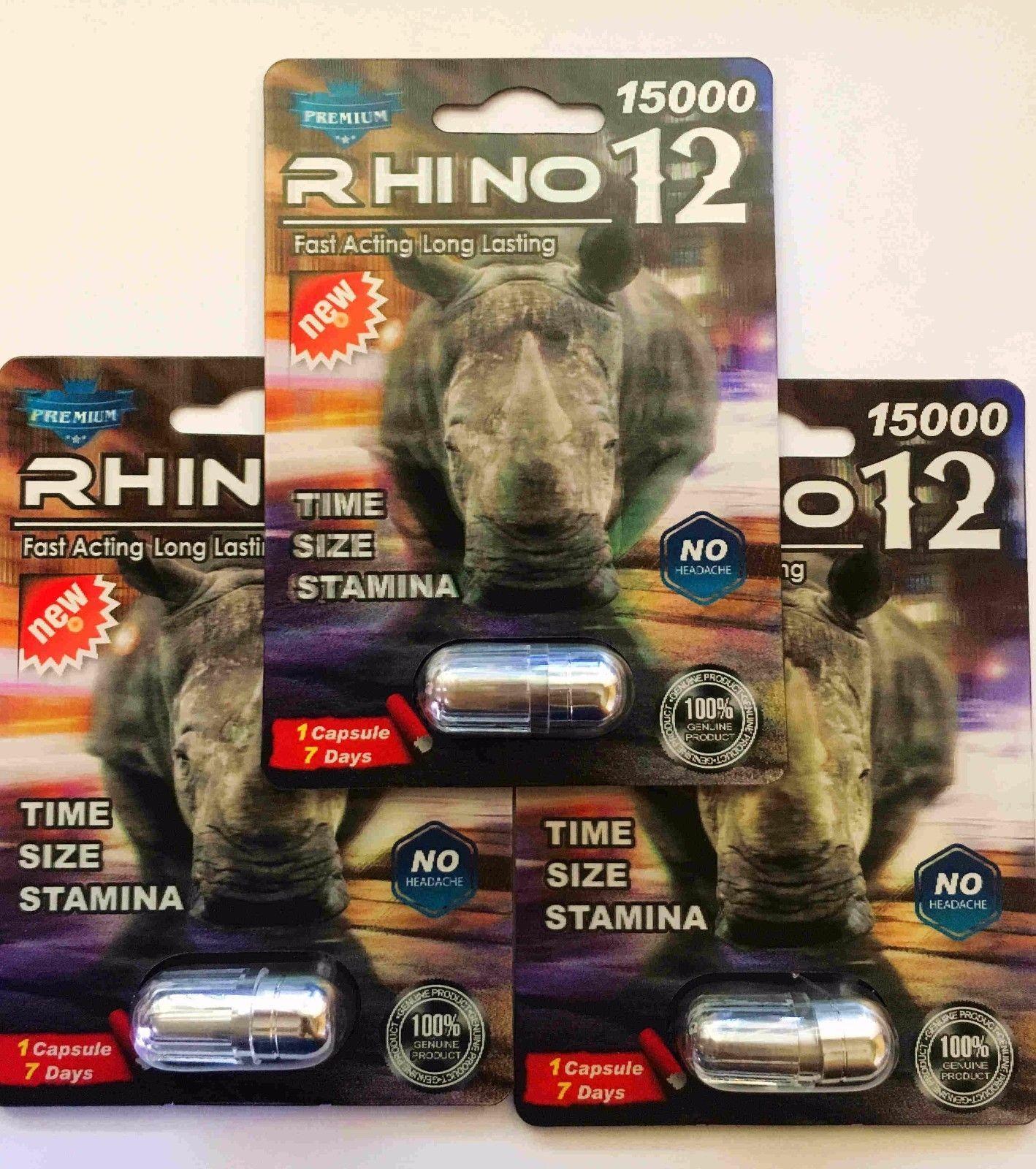 100% Genuine Rhino 12 Premium 15000 Male Sexual Performance Enhancer