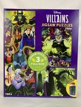 Disney Villians Jigsaw Puzzle 3 Pack with Glue Ursula Maleficent Jafar Hades - $46.44