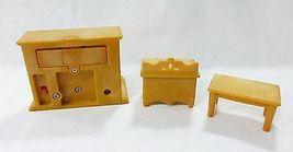 Vintage Epoch Casa Delle Bambole Mobili Miniature Soggiorno Camino Armadietto image 3
