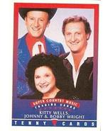 Kitty Wells, Johnny & Bobby Wright trading Card (Super Country Music) 19... - $3.00