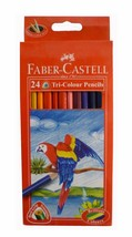 2 x Brand New Faber Castell 24 Tri Colour Color Pencils Best Grip Triang... - $18.32