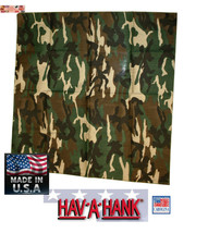 2-USA MADE Army Green Hardwood CAMO Camouflage Bandana Head Neck Wrap Scarf - $13.84