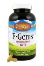 Carlson E-Gems® Natural Vitamin E -- 800 IU - 250 Softgels - $74.00