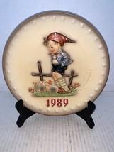 "MJ Hummel Goebel Annual Plate ""Farm Boy"" Hum 66 in Bas Relief 1989 - $15.00"