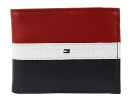 Tommy Hilfiger Men's Leather Wallet Passcase Billfold Rfid Red Navy 31TL220053 image 4