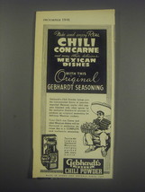 1946 Gebhardt's Eagle Chili Powder Advertisement - $14.99