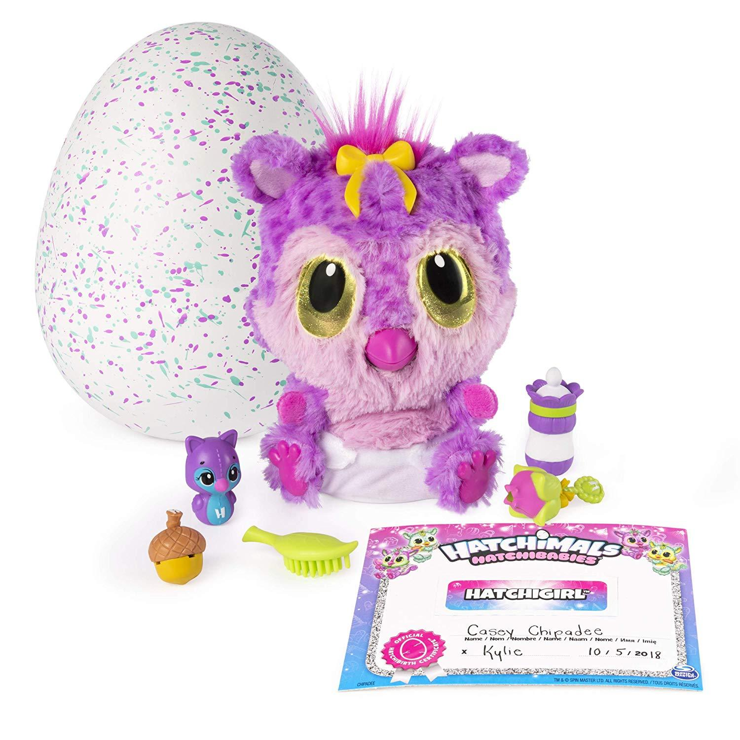 Hatchimals, HatchiBabies Chipadee, Hatching Egg with Interactive Toy Pet Baby (S