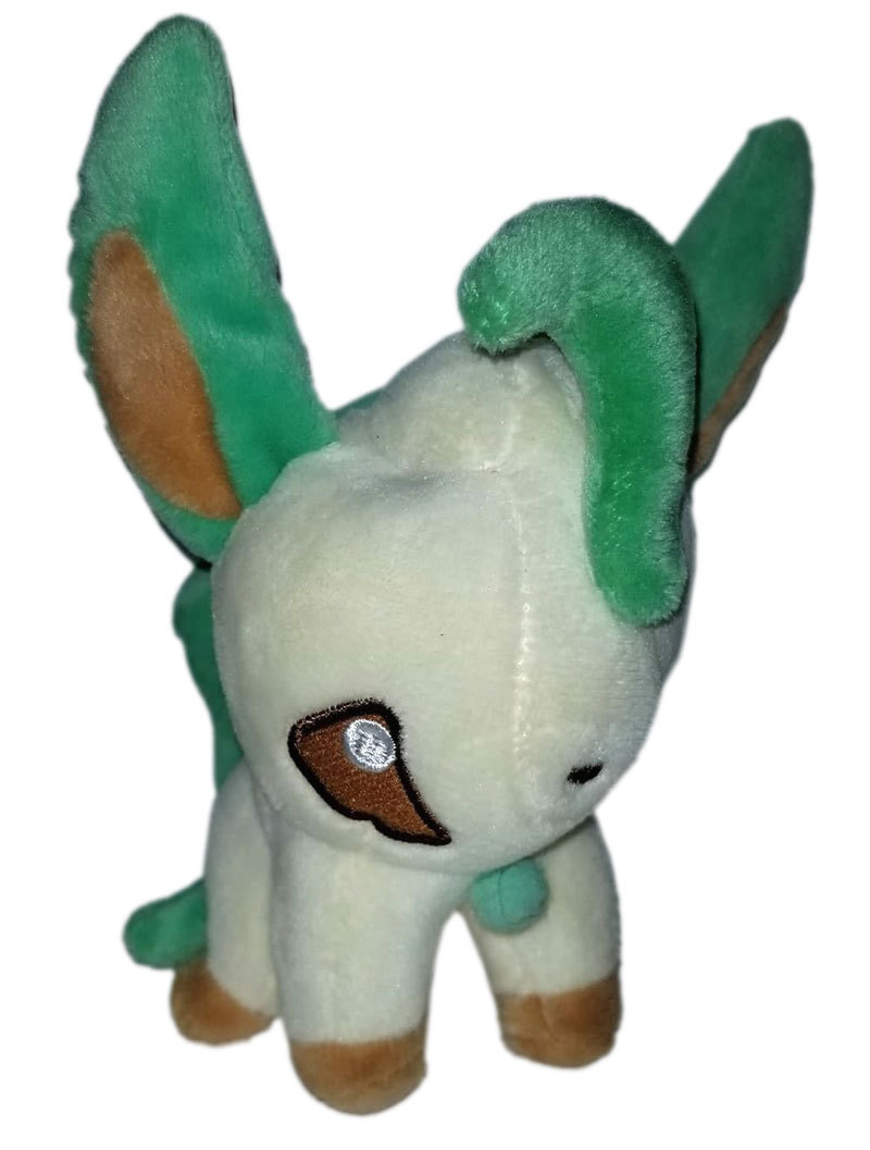 "Pokemon ""Chibi Leafeon"" Pokemon Center Anime UFO Catcher / Plush * Nintendo"