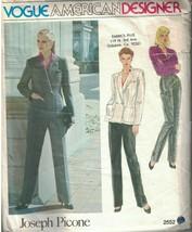 2552 Vintage Vogue Sewing Pattern Misses Jacket Blouse Pants Joseph Pico... - $9.99