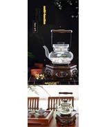 Wooden Tea Ceremony Glass Pot Tea Stove Classical Wenge Tea Art Furnace ! - $174.95