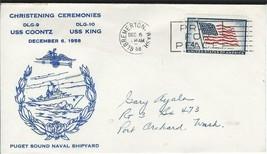 Coontz (DLG-9) & King (DLG-10) Christening 6 Dec 1958 PSNS Cachet - $4.95