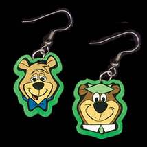 BOO-BOO Yogi Bear EARRINGS-Cartoon Charm Novelty Funky Jewelry - $5.97