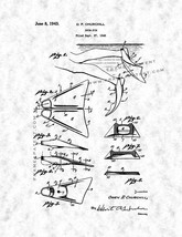Swim Fin Patent Print - Gunmetal - $7.95+