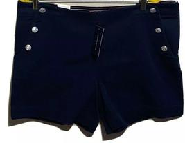 Tommy Hilfiger Women's Size 16 Casual Shorts Navy Blue 100% Cotton w Poc... - $17.82