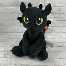 "Build A Bear Workshop 14"" TOOTHLESS How To Train Your Dragon Black Plush... - $17.56"