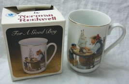 "1982 Norman Rockwell ""FOR A GOOD BOY"" 4"" COLLECTIBLE CERAMIC MUG NEW IN BOX - $14.85"