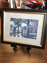 Wall Hanging Framed Art Creek And Woods Theme Nature At It's Best - $12.45