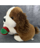 "Vintage Chosun Brown & White Puppy Dog with Ball Plush Stuffed Toy 9"" Se... - $24.99"