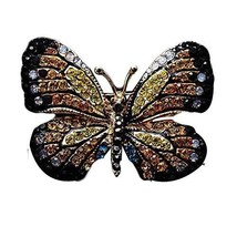 Vintage Jewelry Brooches Rhinestone Breastpin Butterfly Brooches Fashion Accesso