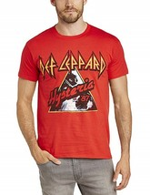 Def Leppard Hysteria Live Nation Merchandise Red Tee Adult Large T-Shirt... - $21.99