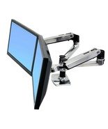 """Ergotron Mounting Arm for Dual Flat Panel Display - Silver - 24"""" Screen ... - $316.79"""