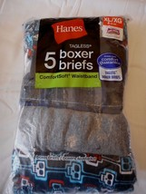 Boy's Hanes Boxer Briefs X-Large Comfort Soft Waistband 5 Pack NEW Skull... - $11.57