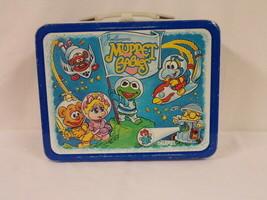 ORIGINAL Vintage 1985 Muppet Babies Metal Lunch Box Kermit Piggy (no the... - $46.39