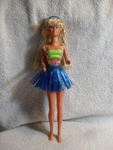 Barbie Doll Blond Ponytail Bathing Suit Blue Skirt 1975 Body 1979 Head - $29.69