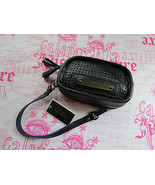Juicy Couture Bag Light Airy Perforated Leather Wristlet Black NEW $98 - $37.62