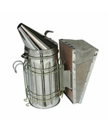 Large Bee Hive Smoker Stainless Steel w/Heat Shield Beekeeping Equipment... - $31.67