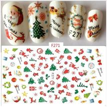 """HS Store - 1 Sheet """"F271"""" 3D Nail Art Stickers Christmas Decoration - $2.63"""