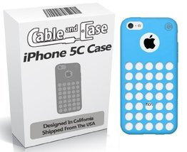 iPhone 5C Case- [2 PACK] Blue Phone Case 5c Soft Skin With Screen Protec... - $7.99