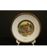 The Art of Chokin Plate Japan Metal Engraving Geisha & Pagoda 24kt Gold ... - $6.90