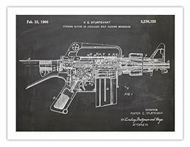 AR-15 ASSAULT RIFLE POSTER BLACKBOARD INVENTION 1966 US PATENT ART PRINT - $24.95
