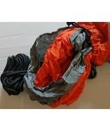 "New Orange and Gray Camping Hammock Outdoor Travel Swing 6'7"" x 5' Light... - $20.39"