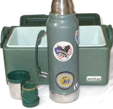 Vintage STANLEY Aladdin Insulated Divided Lunch Box & Thermos Combo MADE... - $63.86