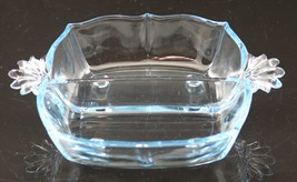 Baroque No. 2496, Azure Blue, Two Part, Relish, made by Fostoria Glass Co., 1936 - $35.00