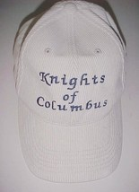 Knights of Columbus Chestnut Hill Adult Unisex White Corduroy Cap Hat On... - $22.76
