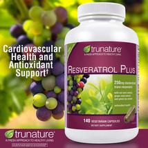 Trunature Maximum Strength Resveratrol Plus 140 Vegetarian Capsules 250mg - $27.63