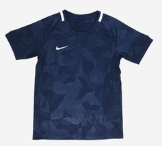 Nike Youth Unisex M Hybrid Crew Neck Soccer Short Sleeve Jersey Navy Blue - $15.83