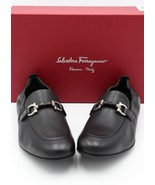 NIB Salvatore Ferragamo Celso Black Leather Gancini Bit Slip-On Loafers ... - $345.00