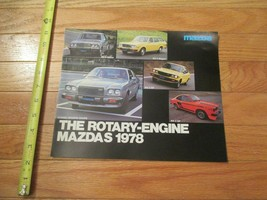 Mazda 1978 Rotary Engine Car auto Dealer showroom Sales Brochure - $9.99