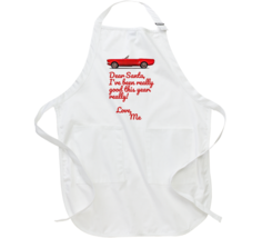 1965 Ford Mustang Dear Santa I've Been Good Funny Christmas Holiday Apron - $25.99+