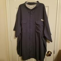Men's Columbia PFG Omni Shield Blood And Guts Short Sleeve Fishing Shirt Sz  4XL - $28.71